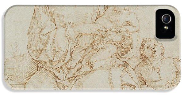 Virgin And Child With Infant St John IPhone 5 Case by Albrecht Durer or Duerer