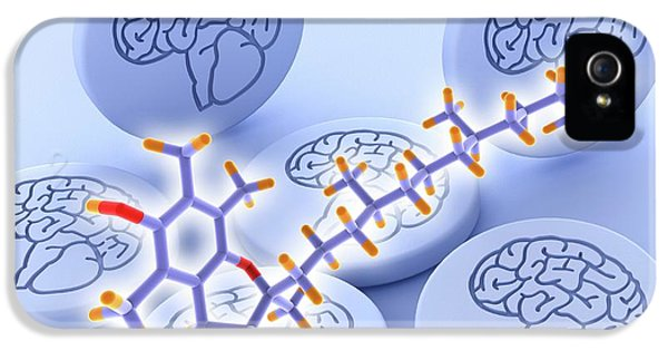 Vitamin E Molecule And Brain Drug Pills IPhone 5 Case by Alfred Pasieka