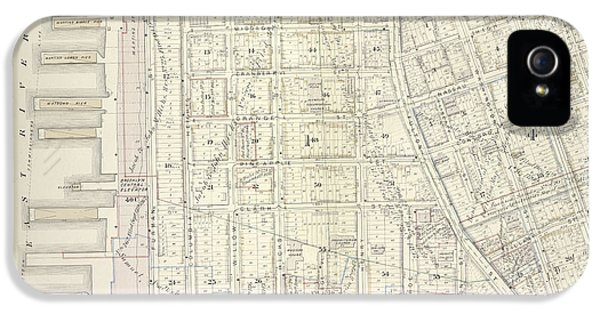 Vol. 5. Plate, C. Map Bound By Poplar St., Sands St., Jay IPhone 5 Case