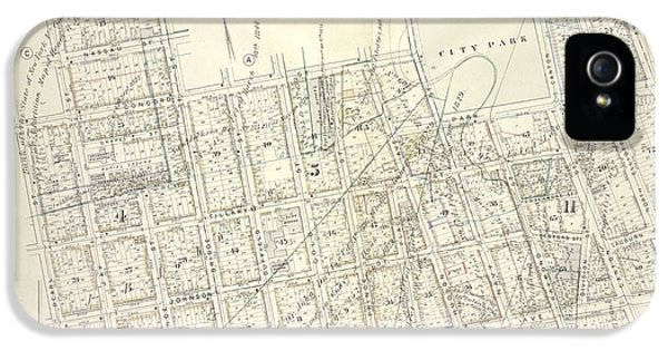 Vol. 5. Plate, D. Map Bound By Sands St., U.s. Navy Yard IPhone 5 Case