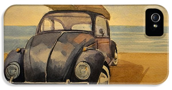 Beetle iPhone 5 Case - Volkswagen Beetle by Juan  Bosco