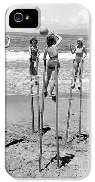Volleyball On Stilts IPhone 5 Case