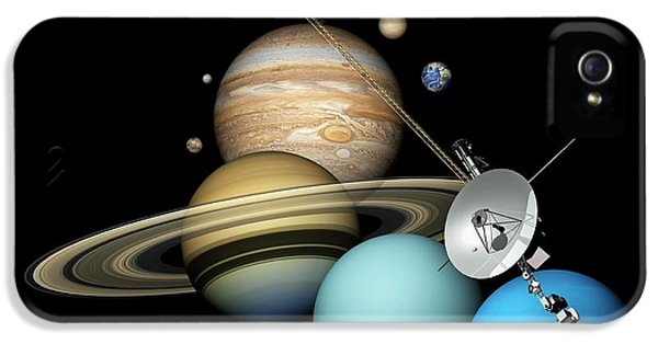 Voyager 2 And Planets IPhone 5 Case by Carlos Clarivan