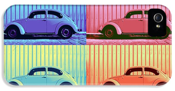 Vw Beetle Pop Art Quad IPhone 5 Case by Laura Fasulo