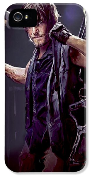 Hollywood iPhone 5 Case - Walking Dead - Daryl Dixon by Paul Tagliamonte