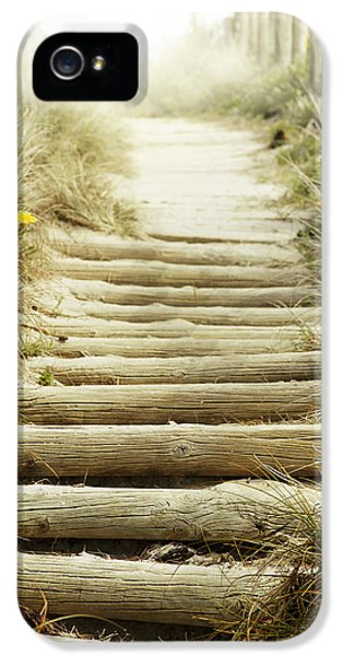 Walkway To Beach IPhone 5 Case by Les Cunliffe