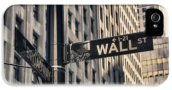 Wall Street Sign IPhone 5 Case by Garry Gay