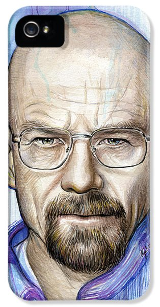 Walter White - Breaking Bad IPhone 5 Case by Olga Shvartsur