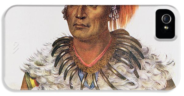 Wapella Or The Prince Chief Of The Foxes, 1837, Illustration From The Indian Tribes Of North IPhone 5 Case by Charles Bird King