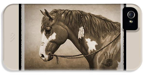 War Horse Old Photo Fx IPhone 5 Case by Crista Forest