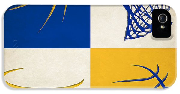 Basketball iPhone 5 Case - Warriors Ball And Hoop by Joe Hamilton
