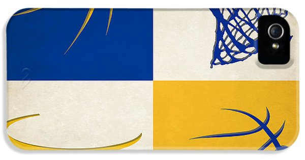 Warriors Ball And Hoop IPhone 5 / 5s Case by Joe Hamilton