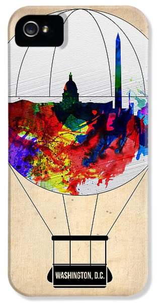 Washington D.c iPhone 5 Case - Washington D.c. Air Balloon by Naxart Studio