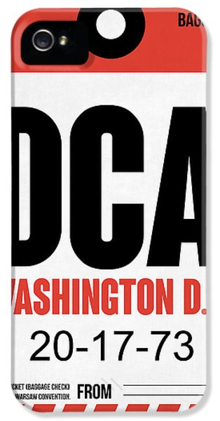 Washington D.c iPhone 5 Case - Washington D.c. Airport Poster 1 by Naxart Studio