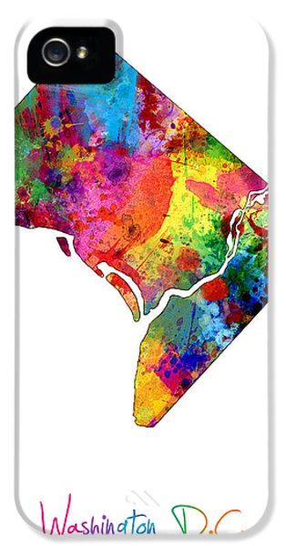 Washington Dc District Of Columbia Map IPhone 5 Case