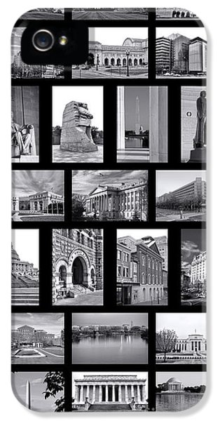 Washington Dc Poster IPhone 5 Case by Olivier Le Queinec