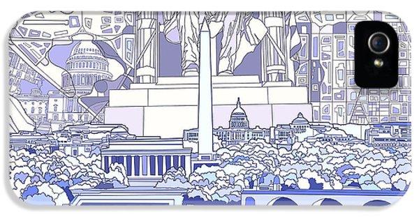 Washington Dc Skyline Abstract 3 IPhone 5 Case