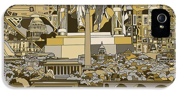 Washington Dc Skyline Abstract 4 IPhone 5 Case