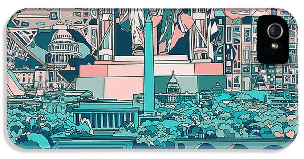 Washington Dc Skyline Abstract 5 IPhone 5 Case