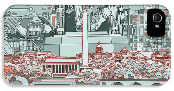 Washington Dc Skyline Abstract IPhone 5 Case
