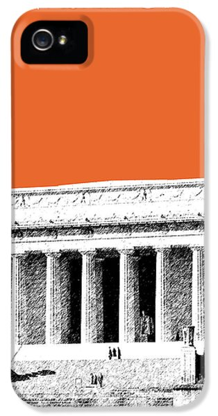 Washington Dc Skyline Lincoln Memorial - Coral IPhone 5 Case by DB Artist