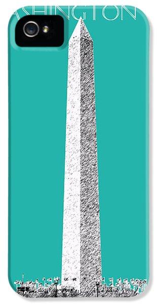 Washington Monument iPhone 5 Case - Washington Dc Skyline Washington Monument - Teal by DB Artist