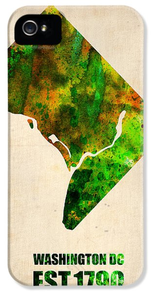 Washington Dc Watercolor Map IPhone 5 Case