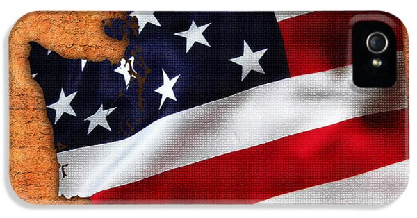 Washington State Map American Flag  IPhone 5 Case