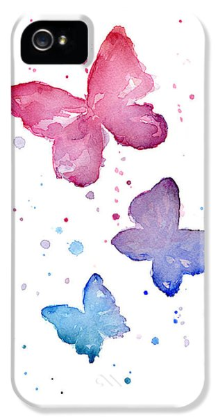 Watercolor Butterflies IPhone 5 / 5s Case by Olga Shvartsur