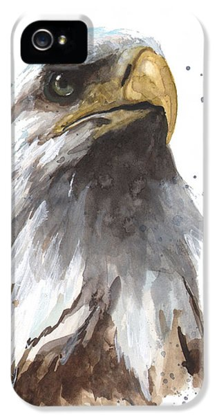 Watercolor Eagle IPhone 5 Case by Alison Fennell