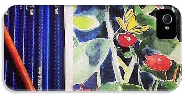 iPhone 5 Case - Watercolor Greetings Cards.... Pintando by Sandra Lira