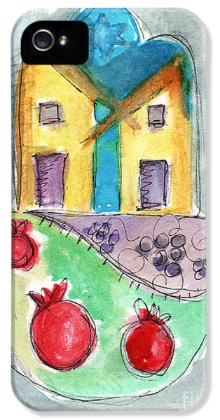Watercolor Hamsa  IPhone 5 Case
