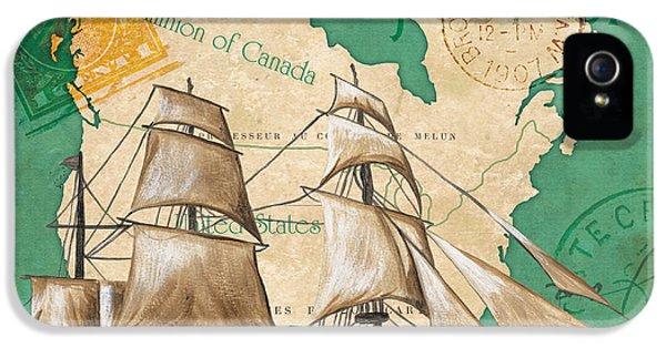 Watercolor Map 2 IPhone 5 Case by Debbie DeWitt