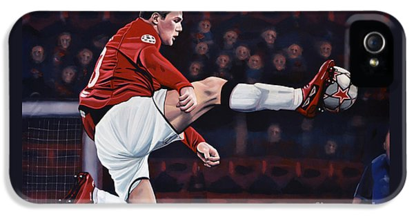 Wayne Rooney IPhone 5 Case by Paul Meijering