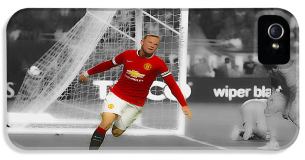 Wayne Rooney Scores Again IPhone 5 / 5s Case by Brian Reaves