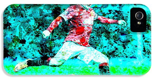 Wayne Rooney Splats IPhone 5 / 5s Case by Brian Reaves