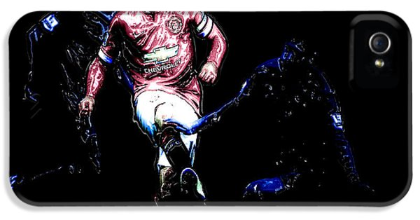 Wayne Rooney Working Magic IPhone 5 / 5s Case by Brian Reaves