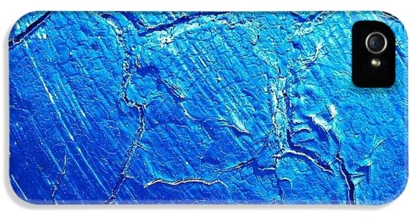 Blue iPhone 5 Case - Weathered In Blue by CML Brown