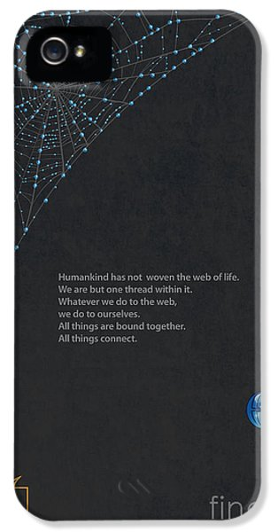 Spider iPhone 5 Case - Web Of Life by Sassan Filsoof