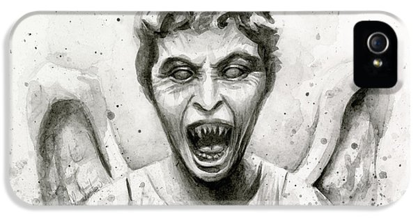 Weeping Angel Watercolor - Don't Blink IPhone 5 Case