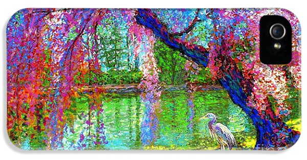 Weeping Beauty, Cherry Blossom Tree And Heron IPhone 5 Case