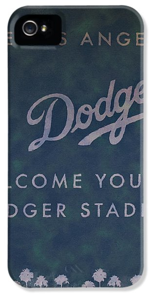 Welcome To Dodgers Stadium - Impressions IPhone 5 Case by Ricky Barnard