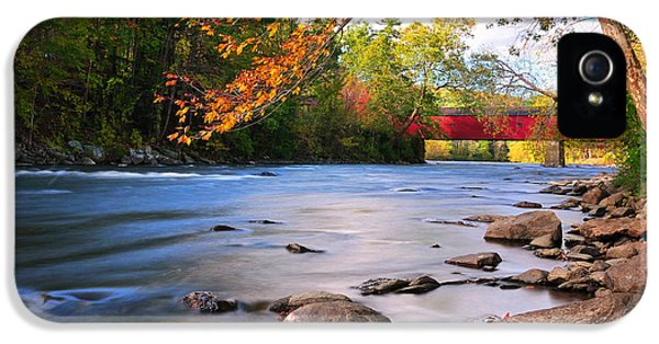 West Cornwall Covered Bridge- Autumn  IPhone 5 Case