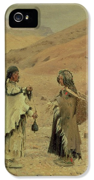 West Tibetans, 1875 Oil On Canvas IPhone 5 Case by Piotr Petrovitch Weretshchagin