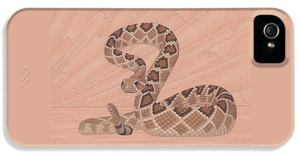 Western Diamondback Rattlesnake IPhone 5 Case by Nathan Marcy