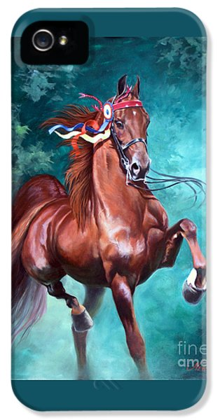 Horse iPhone 5 Case - Wgc Courageous Lord by Jeanne Newton Schoborg