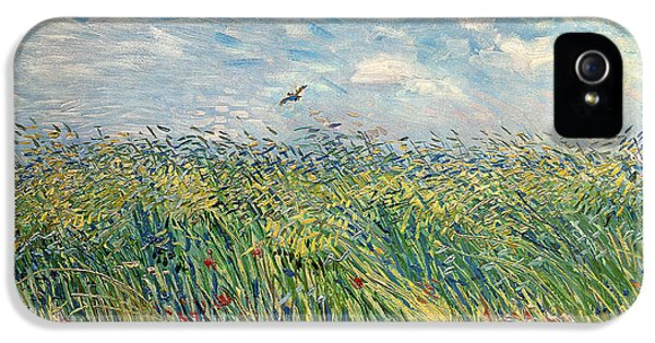 Impressionism iPhone 5 Case - Wheatfield With Lark by Vincent van Gogh