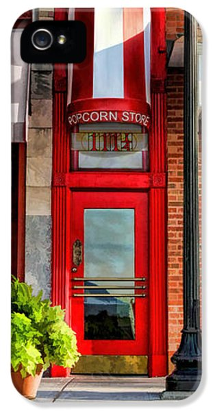 Wheaton Little Popcorn Shop Panorama IPhone 5 Case by Christopher Arndt