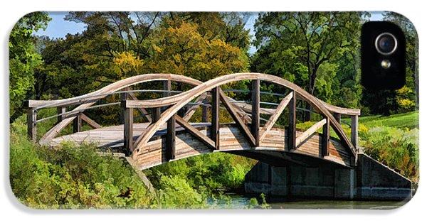 Wheaton Northside Park Bridge IPhone 5 Case by Christopher Arndt