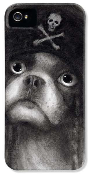 Whimsical Funny French Bulldog Pirate  IPhone 5 Case by Svetlana Novikova